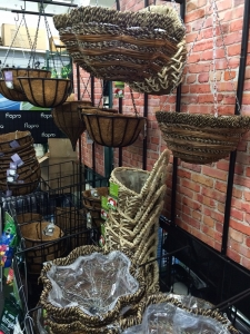 Hanging baskets to plant